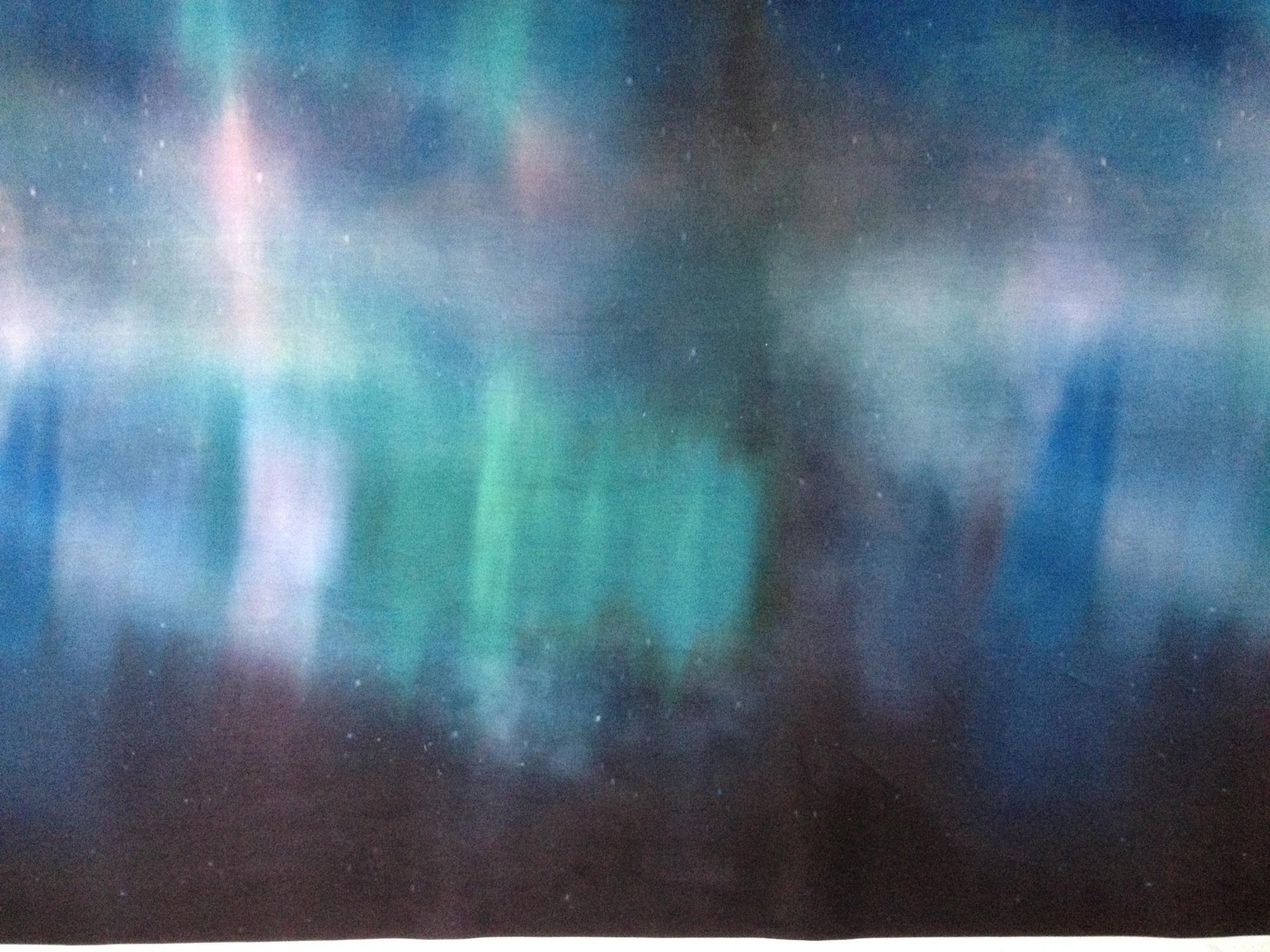 Painted Forest Aurora Borealis Fat 1/2 yd