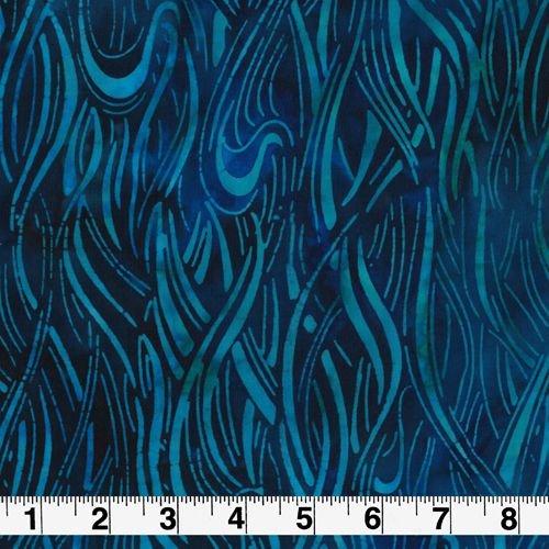 Regatta Blue Waves by Robert Kaufman Sashiko Batik Fabric