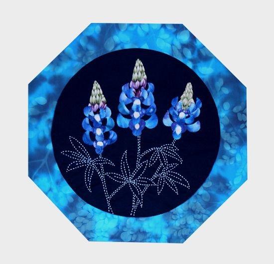 Lupine American Wildflowers Quilt Pattern Sashiko & Applique Design