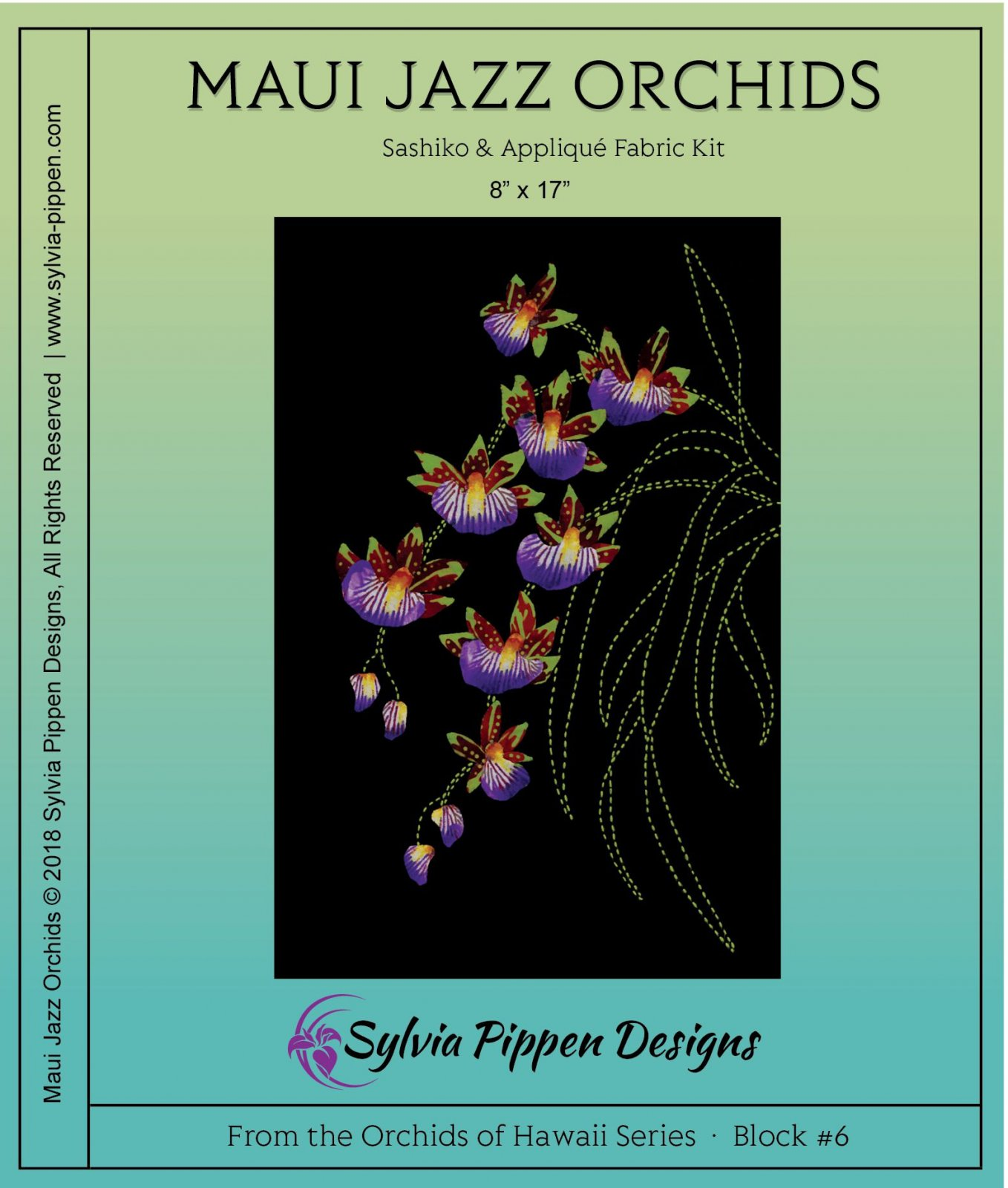 Maui Jazz Orchids  Fabric Kit from the Orchids of Hawaii Series