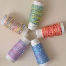 Hidamari Sashiko thread variegated Multicolor 32.8 yds