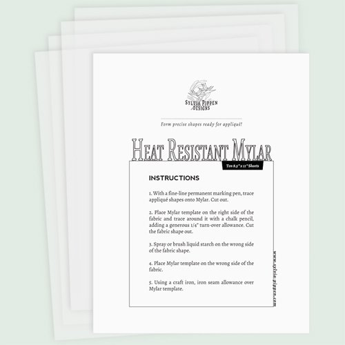 Heat-Resistant Mylar & Instructions for Press-Over Applique
