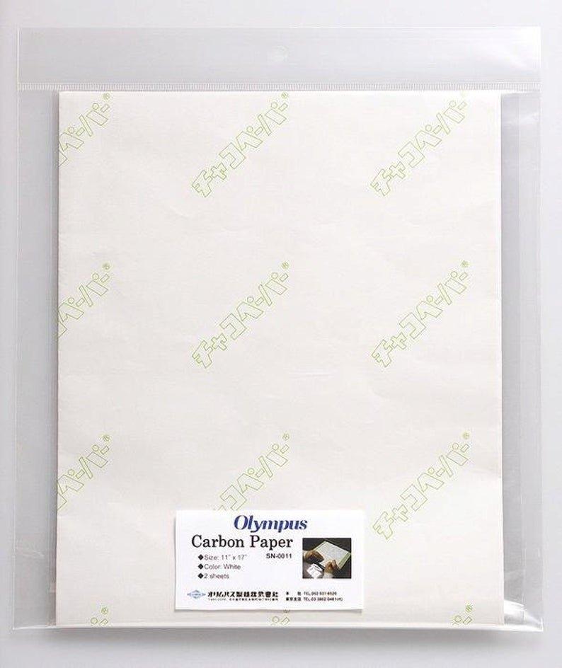 Olympus Carbon Paper 2 pk White 11x17