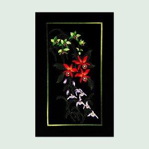 Orchid Cascade Pre-printed Sashiko & Applique Fabric Kit