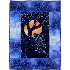 Owl & Moon Japanese Sashiko & Reverse Applique Quilt Pattern Design