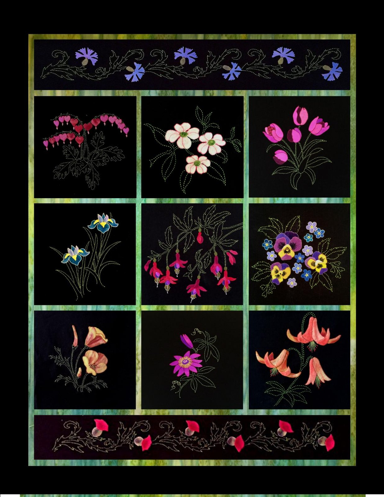 Last Chance Perennial Favorites'' Wool Applique Complete 11 Block of the Month Package