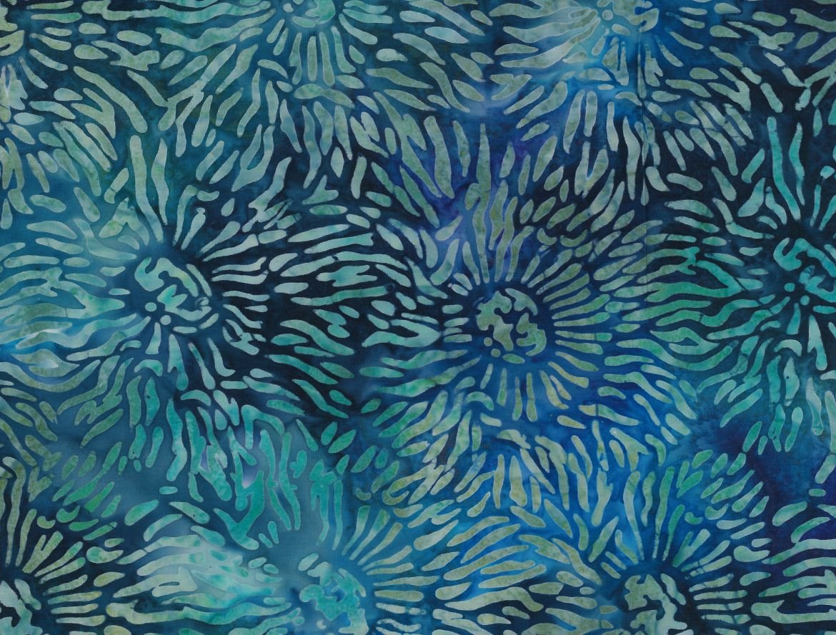 Anemone Blue -Green Batik by Robert Kaufman