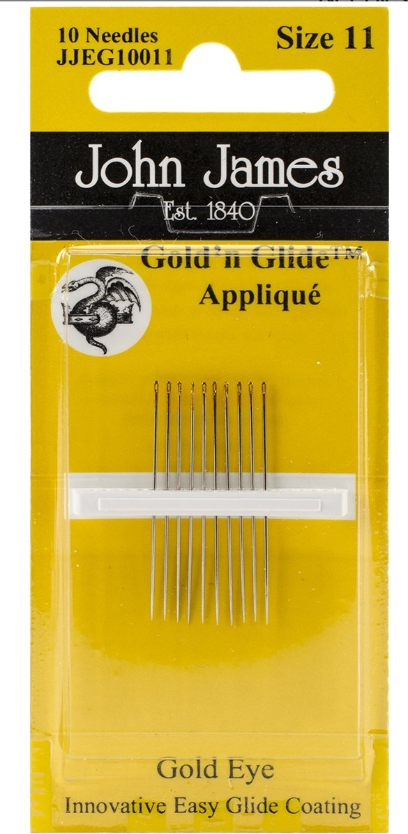John James Gold & Glide Applique Needles Size 11