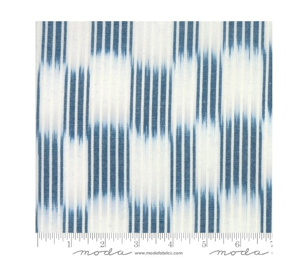 Moda Boro Dark Indigo White Kasuri Woven Yarn Dyed 12560 33