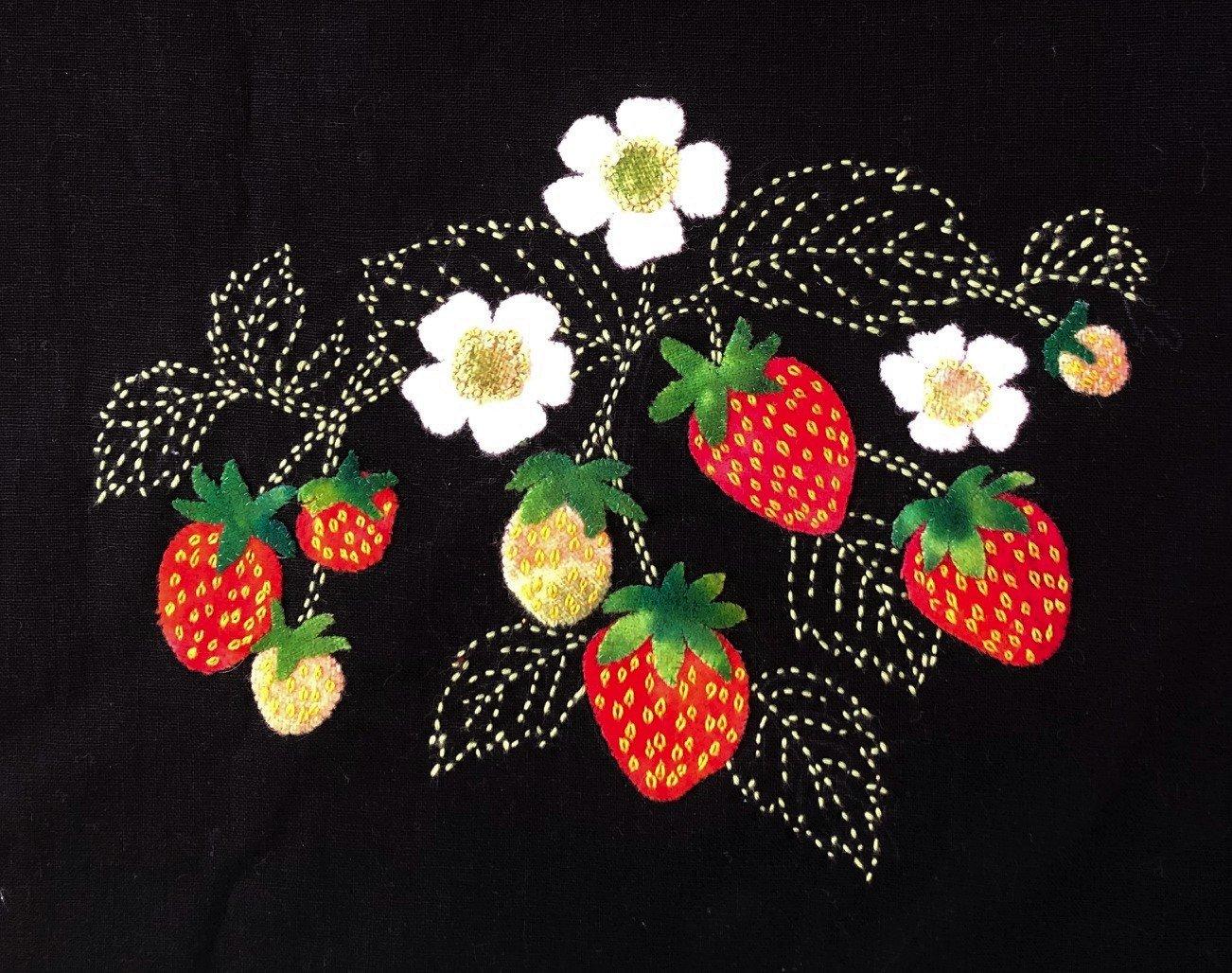 Strawberries! Block #9 Garden Vignettes Mystery BOM