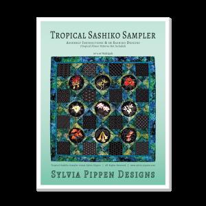 Tropical Flowers Sashiko Sampler Series Assembly Instructions