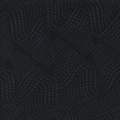 Wavy Dot Black Island Batik