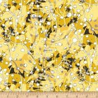 Yellow Gold Black & White Citrus Henry Glass