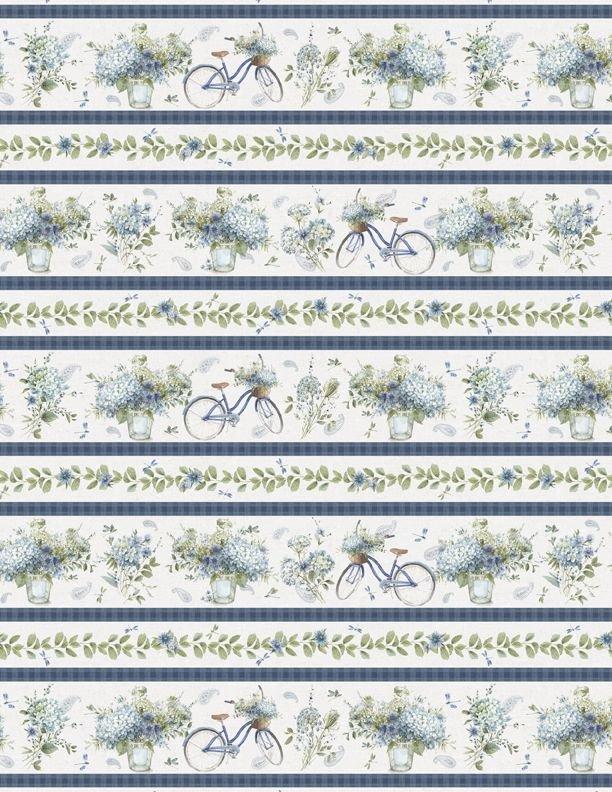 BOHEMIAN BLUE - REPEATING STRIPE MULTI 17752-174