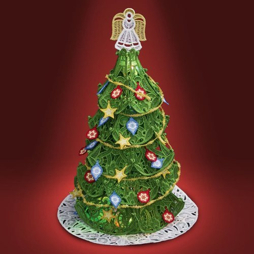 OESD FS CHRISTMAS TREE WITH ORNAMENTS MACHINE EMBROIDERY CD 12757
