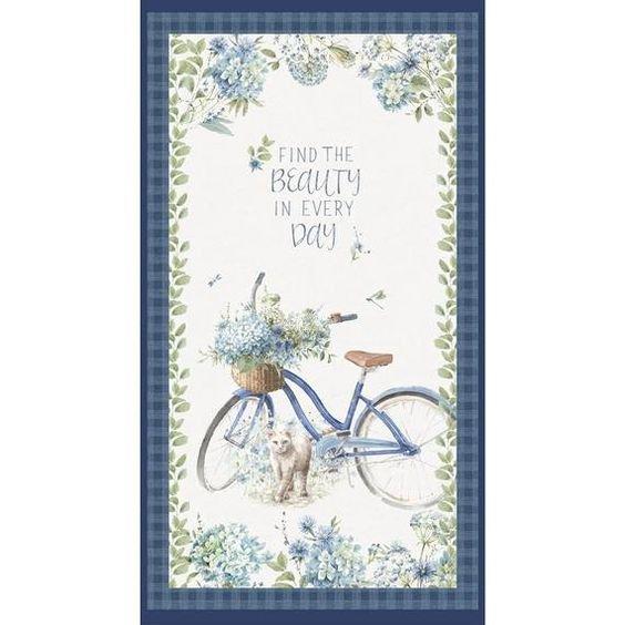 BOHEMIAN BLUE - FLOWER BASKET BICYCLE 24 PANEL WP17751-147