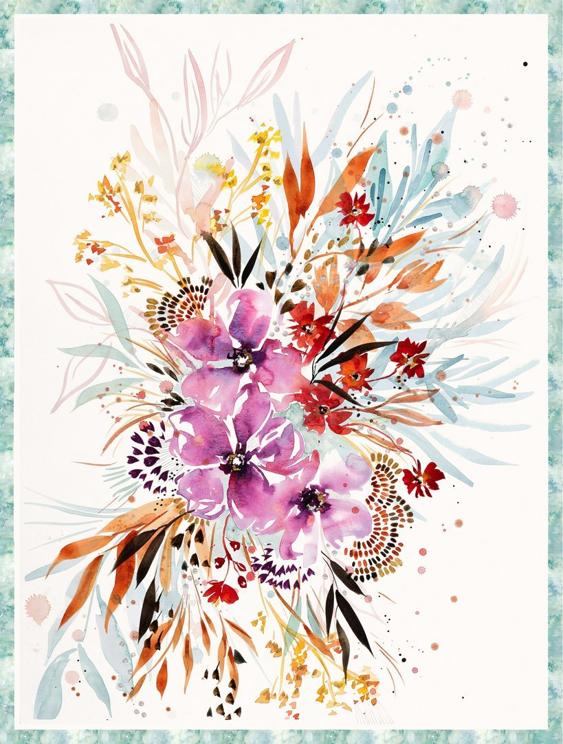 FLOWERS OF EVENTIDE - SUNSHINE SOUL PACKAGE PANEL 56 x 74 8471-11P