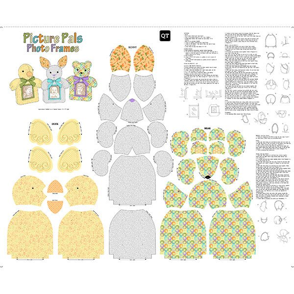 SEW & GO III - PICTURE PALS PHOTO FRAMES 36 CRAFT PANEL 26387-X