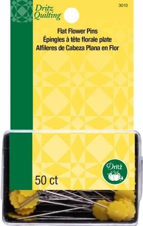 FLAT FLOWER PINS 50 PK 3010