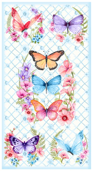 PAPILLON PARADE BUTTERFLY PANEL 9364P-07