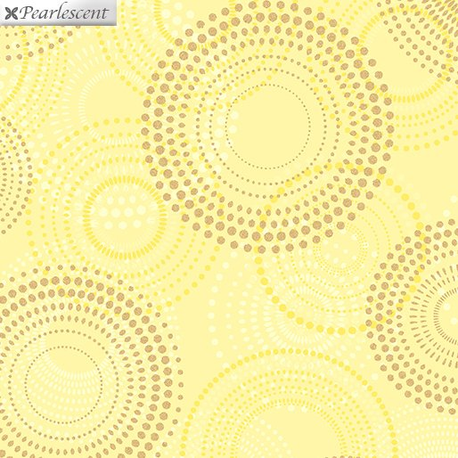 SHIMMER & SHINE - SHIMMERY SPIRALS YELLOW 9711P-33