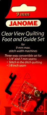 9mm CLEARVIEW QUILTING FOOT WITH GUIDE
