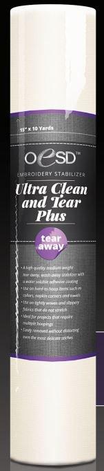 "OESD Ultra Clean /& Tear Tear-Away Stabilizer 15/"" x 10 yds"