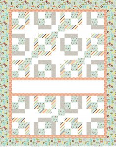 EXPRESS YOURSELF OH BOY QUILT PANEL WITH FUSIBLE FABRIC - RILEY BLAKE DESIGNS