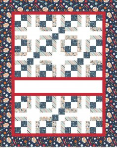 EXPRESS YOURSELF GAME DAY QUILT PANEL WITH FUSIBLE FABRIC - RILEY BLAKE DESIGNS