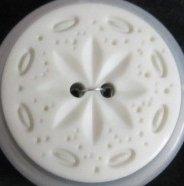 30mm Light Grey Sand Dollar 2 Hole Button