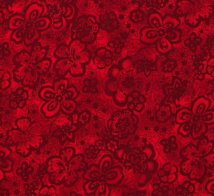 ISADORA CHERRY FLOWERS 108 WIDE BACK