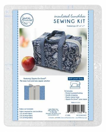 INSULATED LUNCHBOX SEWING KIT - GREY ZIPPER JT-1659