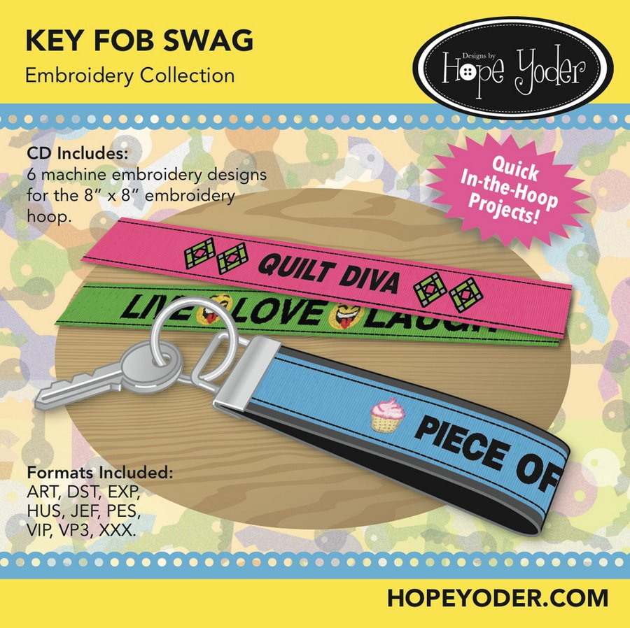 KEY FOB SWAG EMBROIDERY COLLECTION