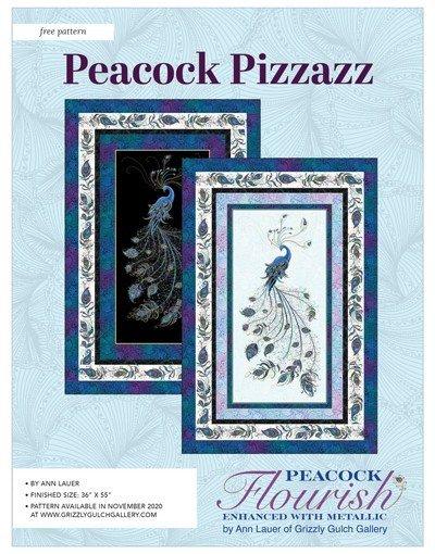 PEACOCK FLOURISH - PEACOCK PIZZAZZ LIGHT QUILT KIT