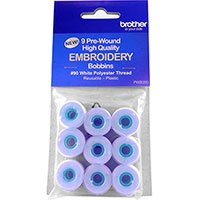 BROTHER EMBROIDERY BOBBINS PREWOUND WHITE