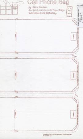 CELL PHONE BAG INTERFACING 20 x 39 - MAKES 3 BAGS QS65030D