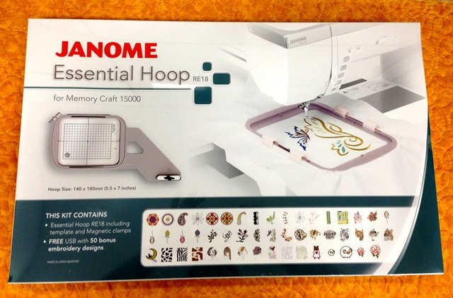 JANOME ESSENTIAL 15000 HOOP RE18