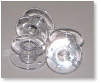 BROTHER BOBBINS, CLEAR PLASTIC, 10-PACK, 11.5 SIZE