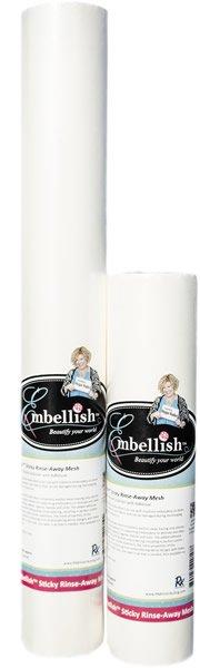 EMBELLISH STICKY RINSE-AWAY MESH 12 X 10' ESRM-12