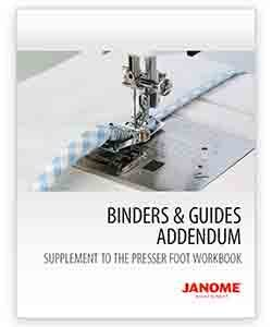 JANOME BINDERS & GUIDES ADDENDUM
