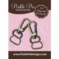 PICKLE PIE - 1/2 CLASP AND D-RING SET PPDHB015