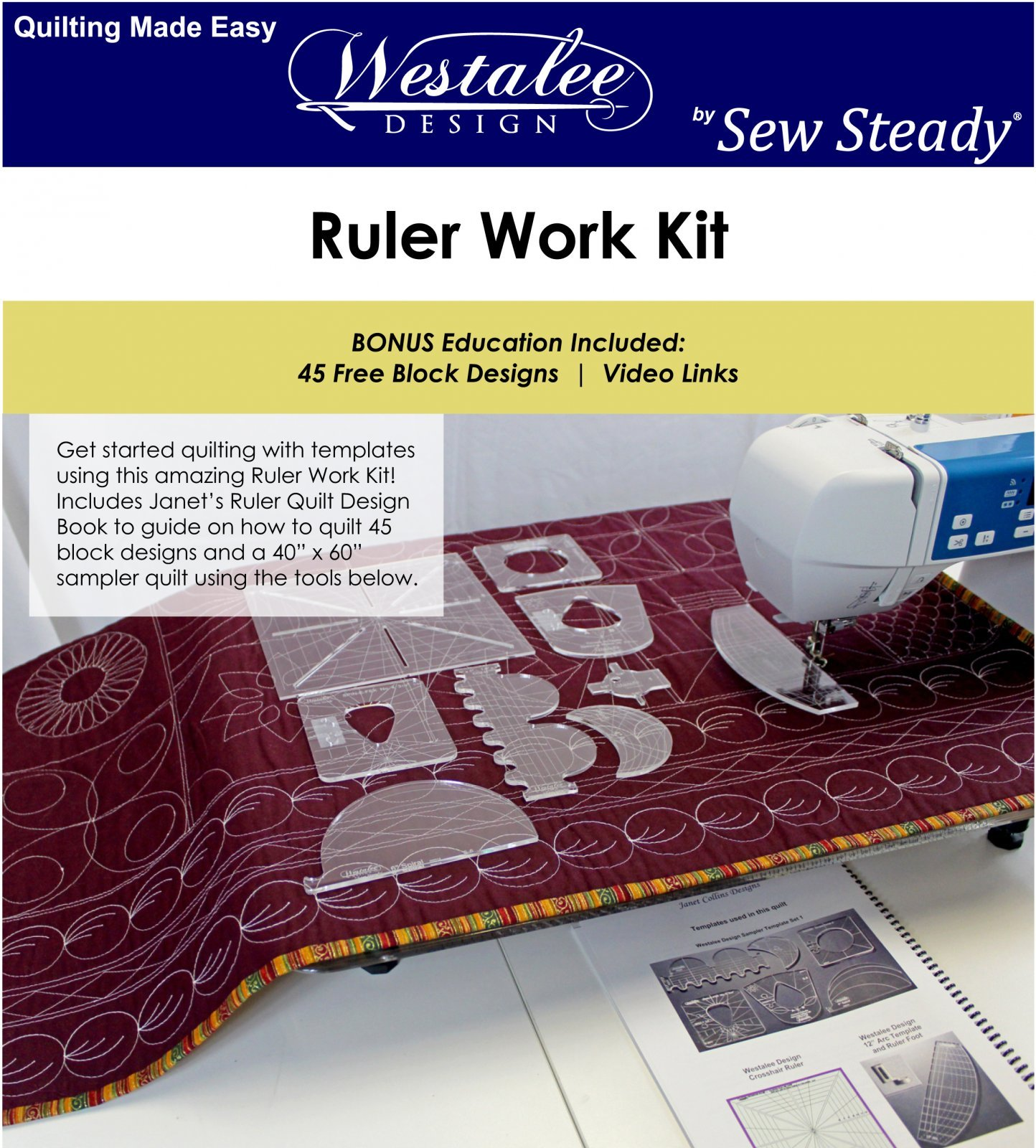WESTALEE DESIGN RULER WORK KIT BY JANET COLLINS  - HIGH SHANK