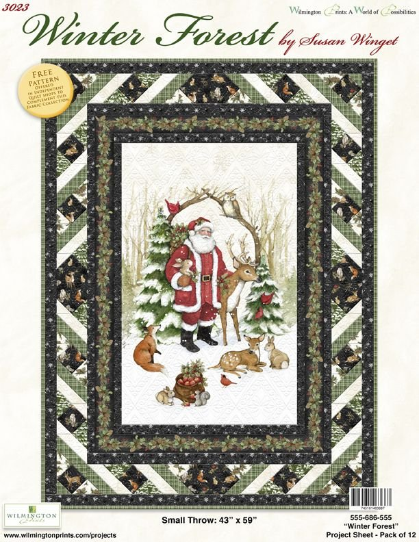 WINTER FOREST QUILT KIT 43 x 59