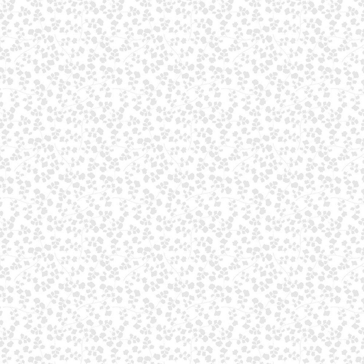 COTTON CLOUDS - MAIDENHAIR FERN WHITE ON WHITE 1817-39137-100