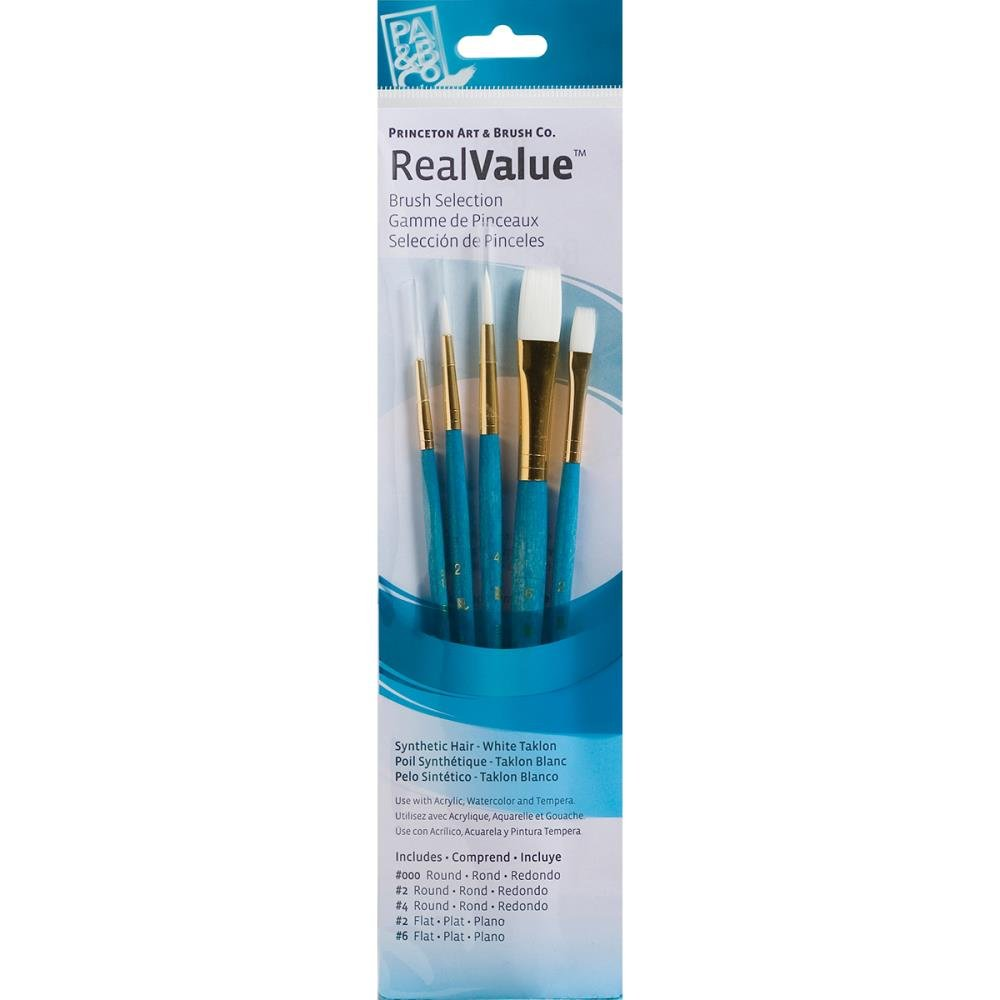 Synthetic White Taklon Real Value Brush Set