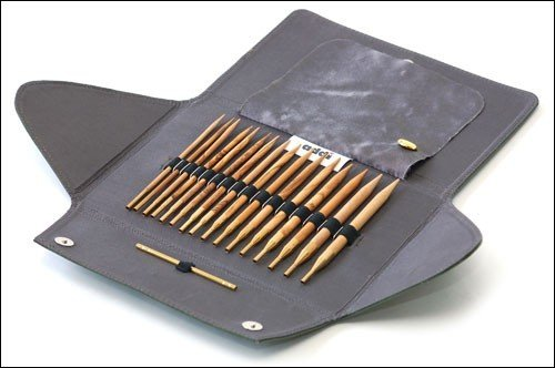 addi Click Olive Wood Interchangeable Needle Set