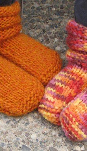 Knitting Pure Simple Pattern 113 Childrens Mukluk Slippers