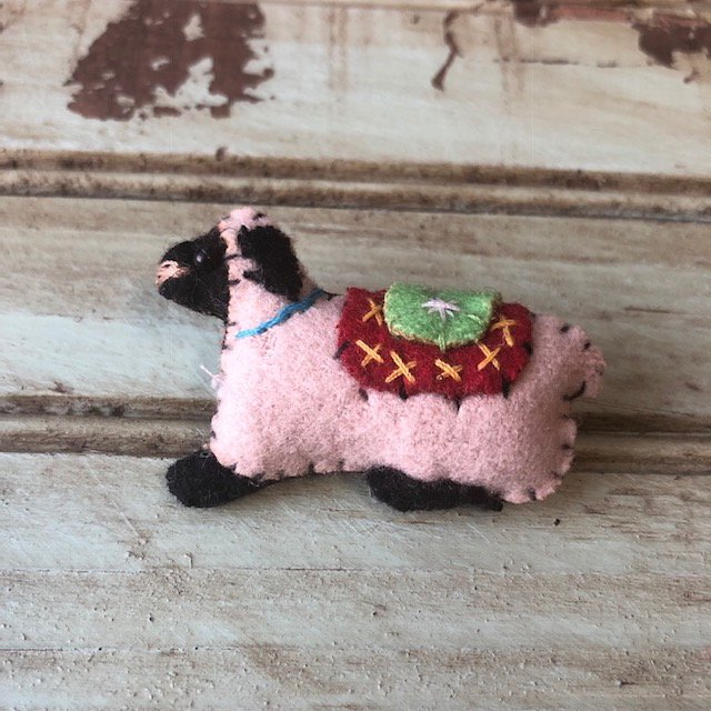 Tiny Sheep Felt Pin