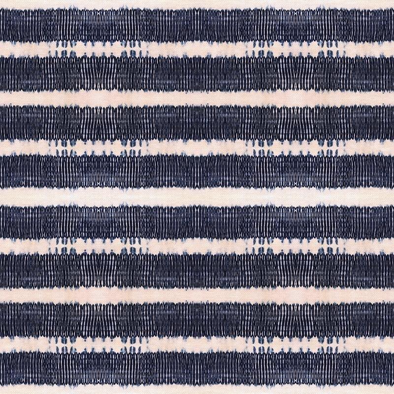 Shibori Pleat Stripe Indigo - Paintbrush Studios