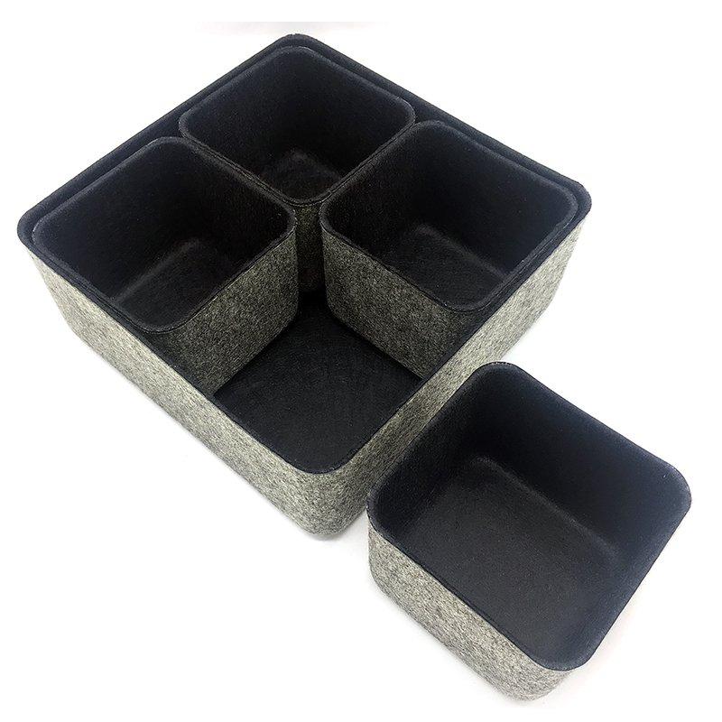 5 piece felt storage bin set